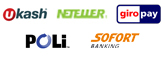 We accept GiroPay, Sofort, ukash and Neteller